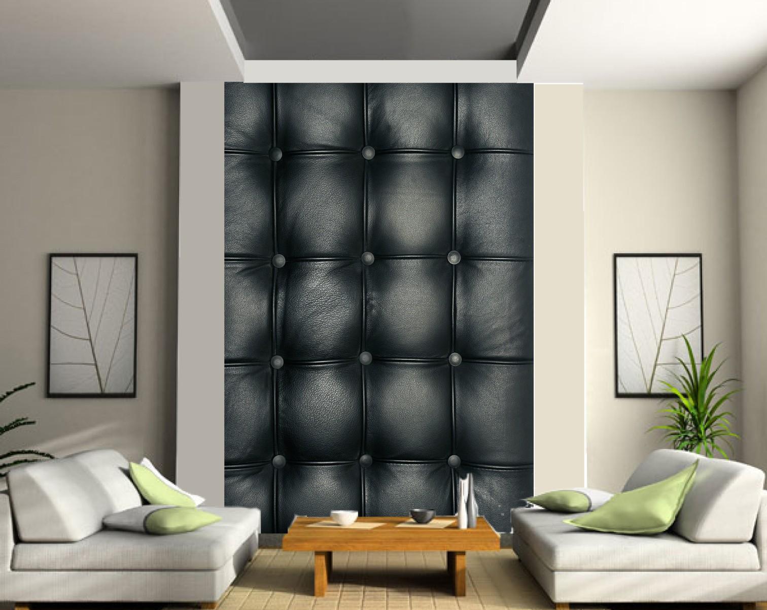 papier peint geant capitonne noir art