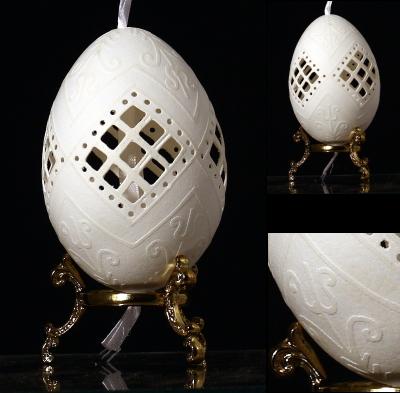 Oeuf Dcor De Hongrie Coquille Sculpte Lacide