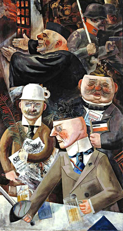 The pillars of society by George Grosz (1926)