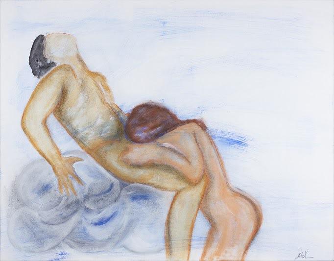 Neueste Design Abstrakte Nackte Frauen Menschen Portrait Leinwand