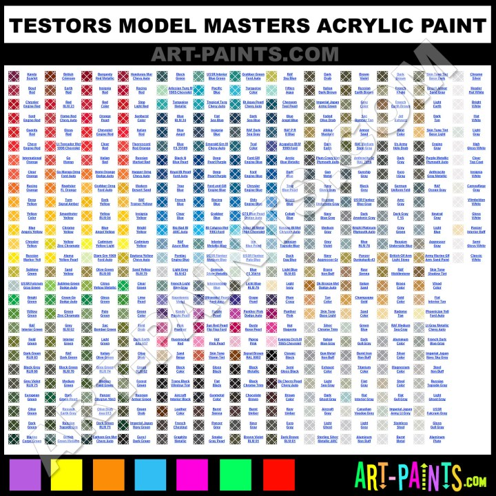 Testors Model Master Enamel Color Chart Todayss