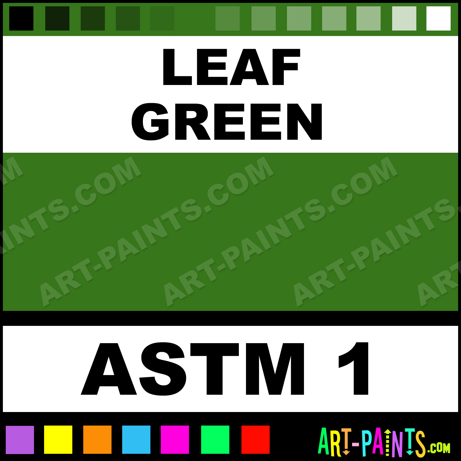 Leaf Green Acrylic Gouache Paints