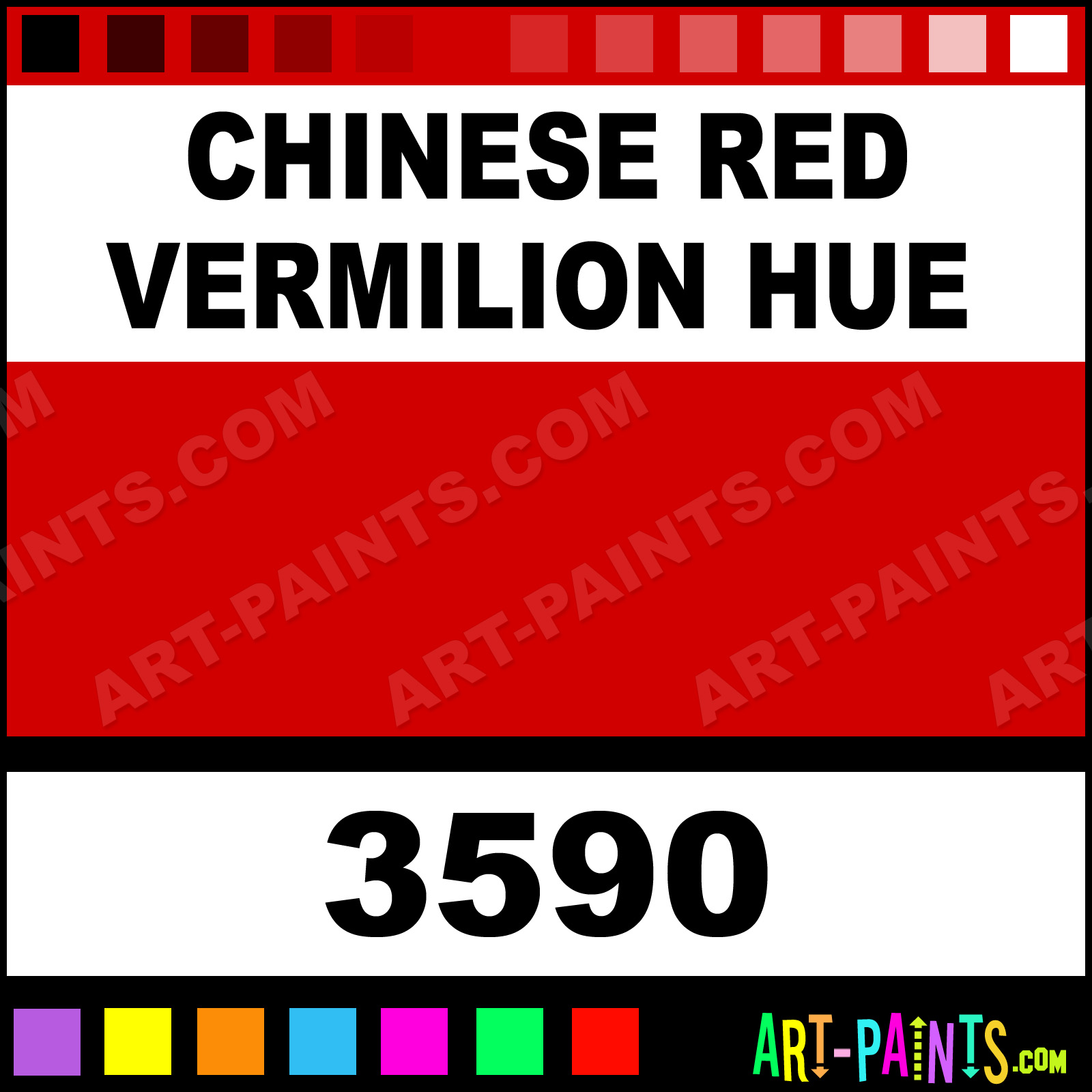 Chinese Red Vermilion Hue Artists Oil Paints