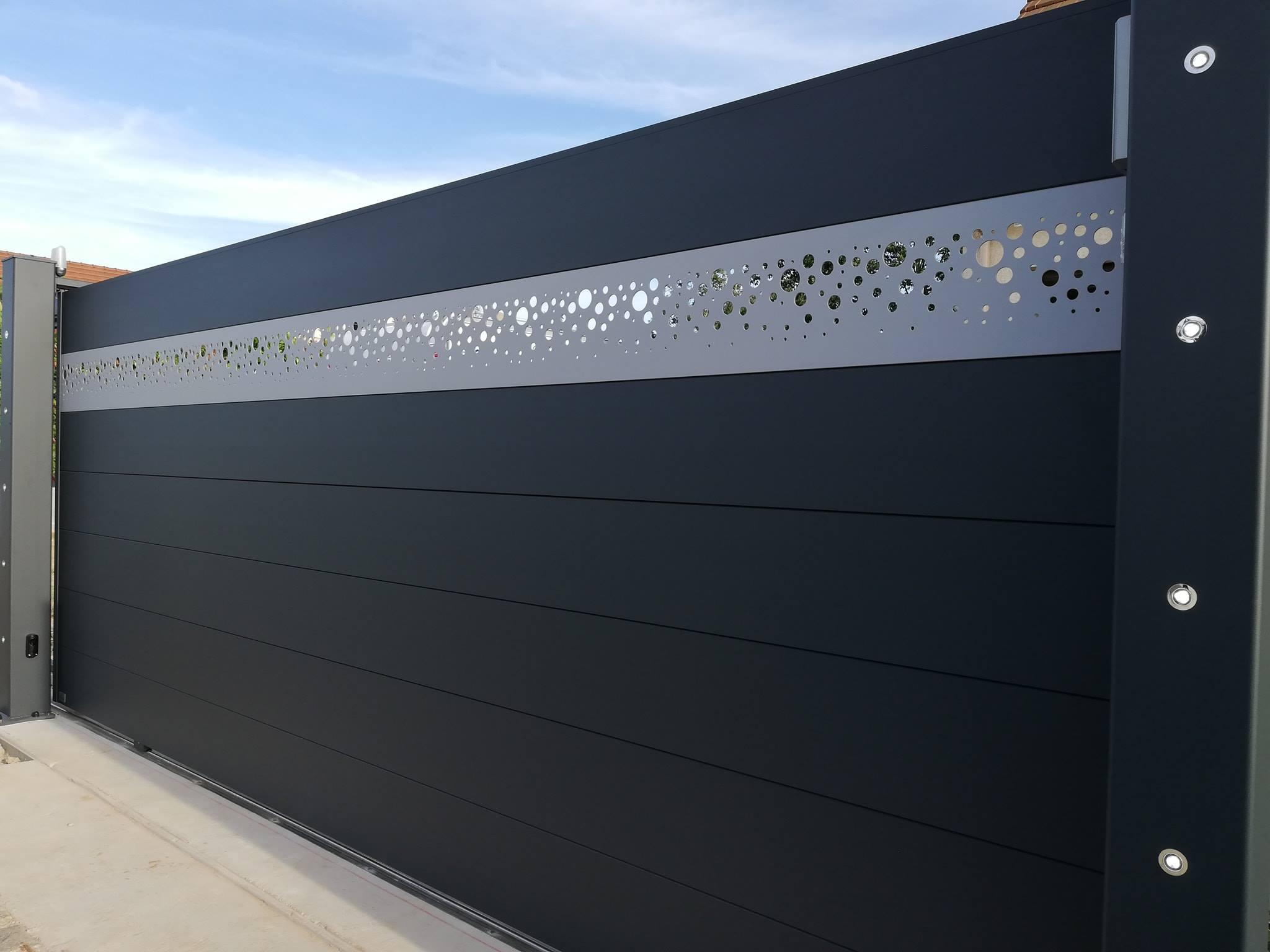 Portail Alu Coulissant 4m Sur Mesure France Art Et Portails