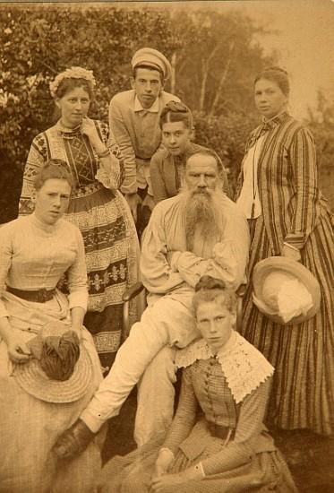 Image: Count Semyon Semyonovich Abamelek-Lazarev - The author Leo Tolstoy with his family in Yasnaya Polyana