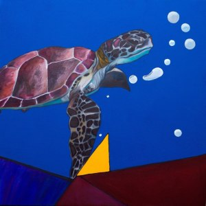 Sea Turtle - oil on canvas, 60x60, 2015
