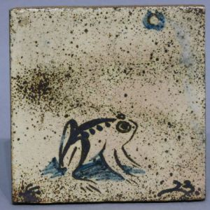 バーナード・リーチ 月に蛙図陶板
