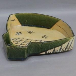 北大路魯山人 織部扇鉢