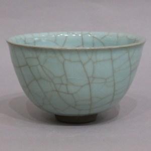 岡部嶺男 月白瓷碗
