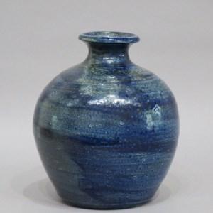 浜田庄司 藍塩釉花瓶
