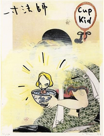 Yoshitomo Nara, Cup Kid (In the floating world) (1999)