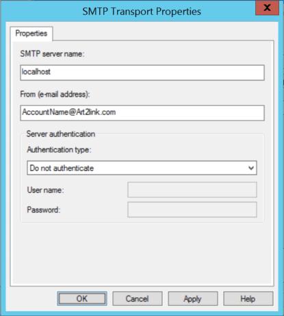 SMTP Properties