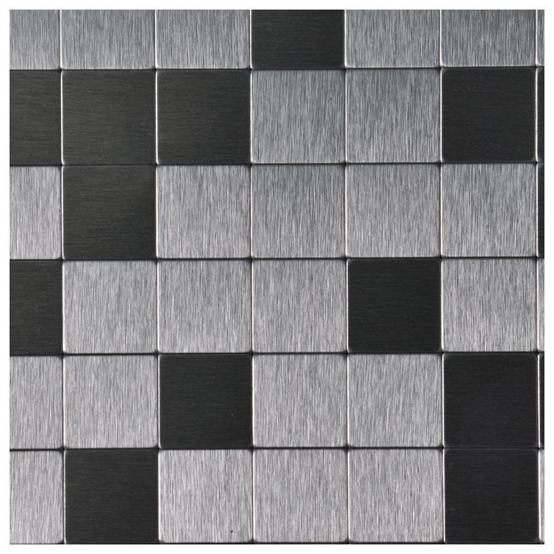 a16011 peel and stick tile aluminium backsplash mosaics 12 x 12 silver