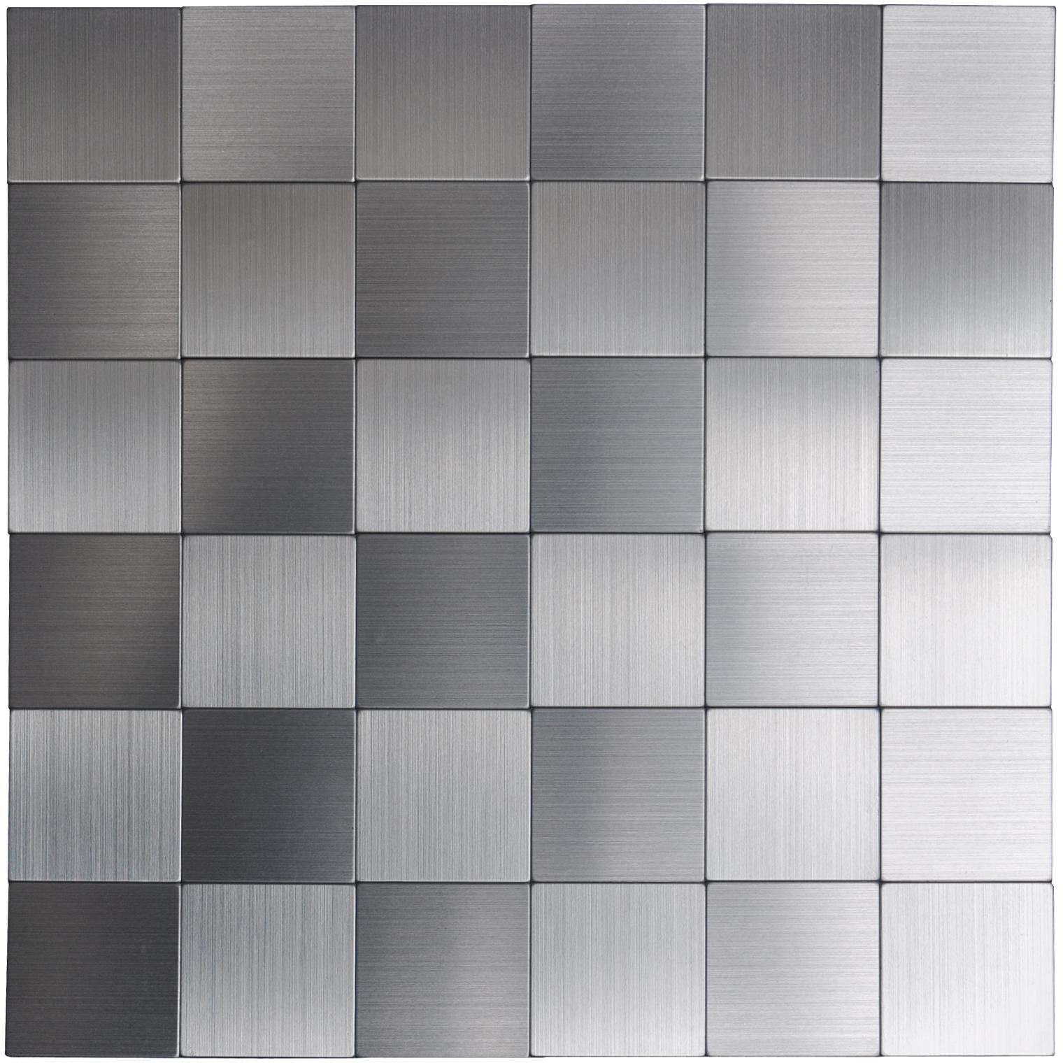 a16110 self adhesive metal tiles 10 pcs stainless peel n stick backsplashes tiles 12x12in