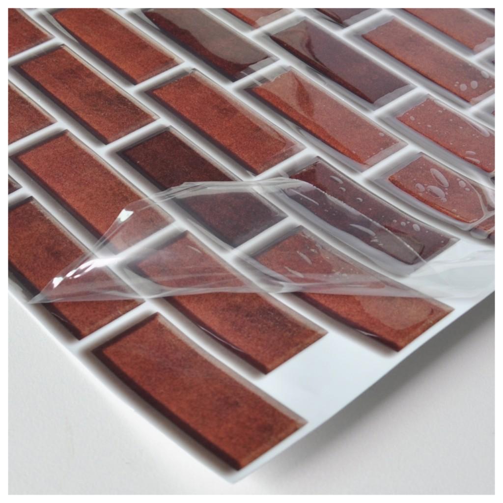 a17026 peel and stick brick backsplash tile for kitchen 12 x12 set of 6