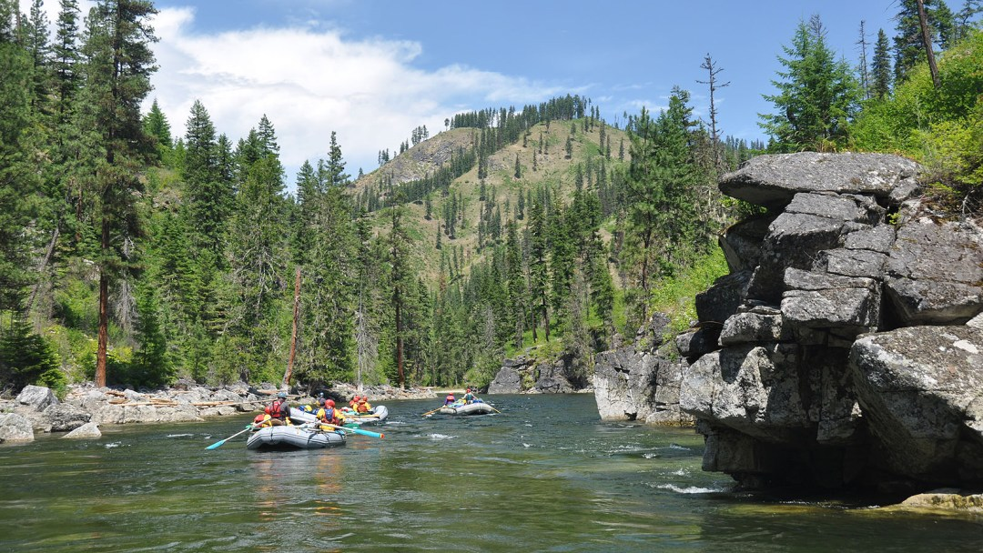 The beautiful Selway River in Idaho