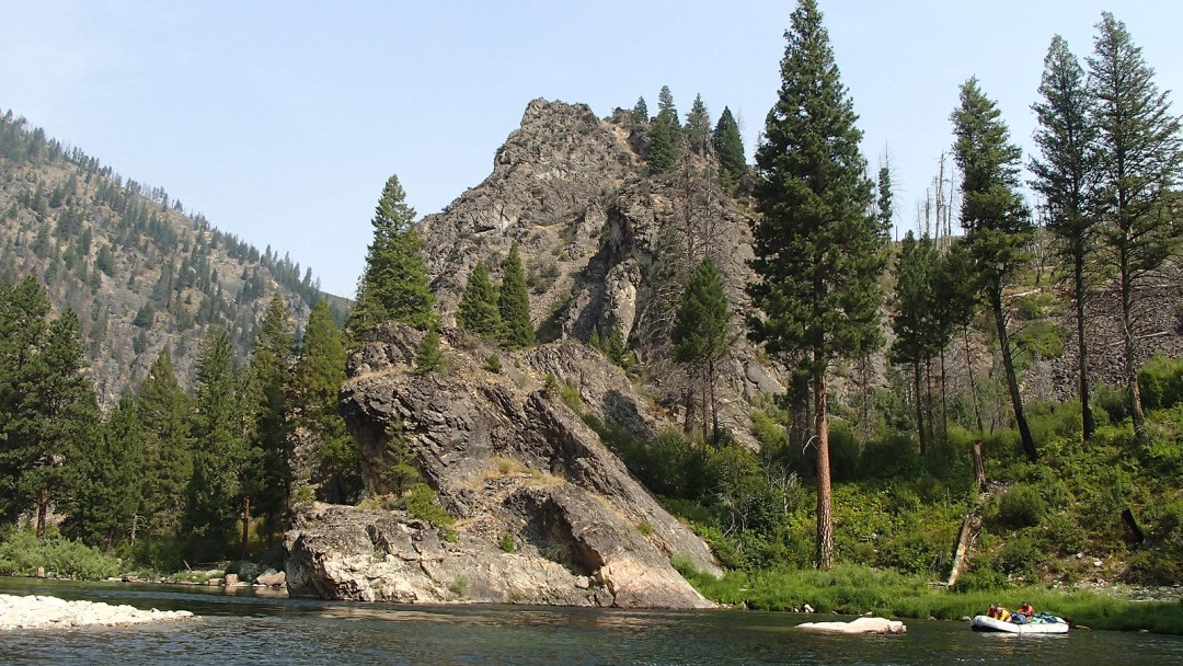 floating along the Middle Fork of the Salmon River in Idaho