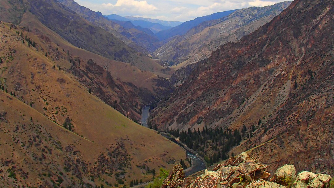 Looking upstream on the Middle Fork of the Salmon River in Idaho