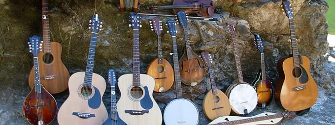 Bluegrass on the river; Tuolumne River, California