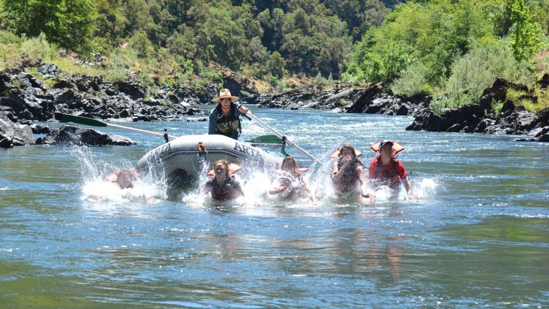 Splashing into the Rogue River on an ARTA River Trip