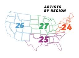 Artists by region