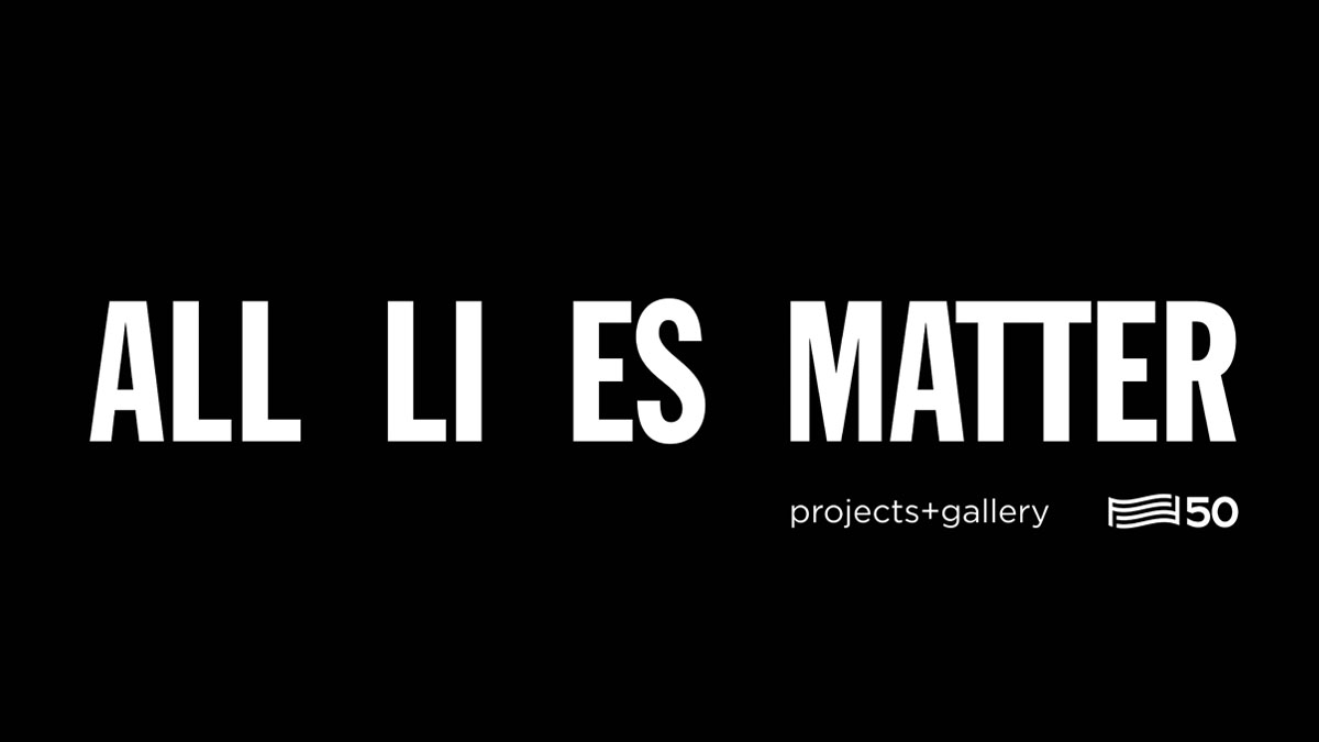 "Black background with white text that reads ""All LIES MATTER"""