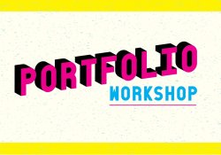 Image of the words Portfolio Workshop in CMYK