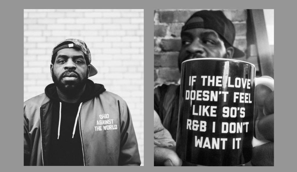 Two pictures of Hanif Abdurraqib