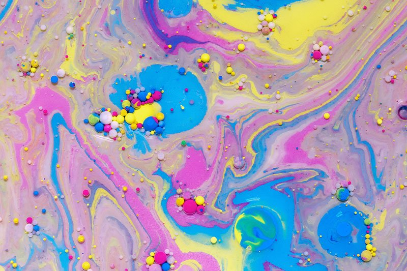 A colorful abstract painting