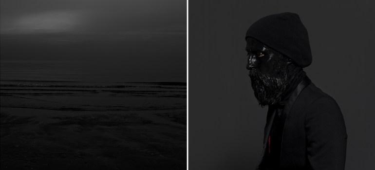 Mustafa Sabbagh: onore al nero_untitled, 2014 - dittico, stampe fine art su dibond, ed. di 5 + 1 pa | courtesy: l'artista, Collezione Farnesina Arte Contemporanea - Roma