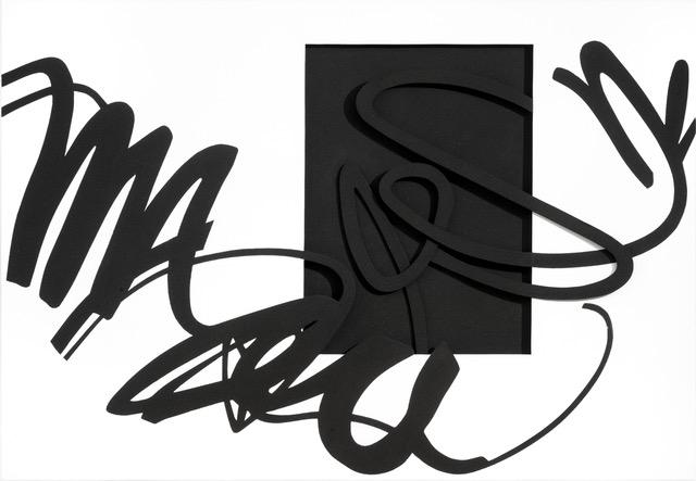 Agostino Ferrari, ProSegno Odissea, 2018. Acrilico Sabbia Tela EMdf, cm160x23 - Courtesy Archivio Agostino Ferrari, Milano + Ca' di Fra', Milano.