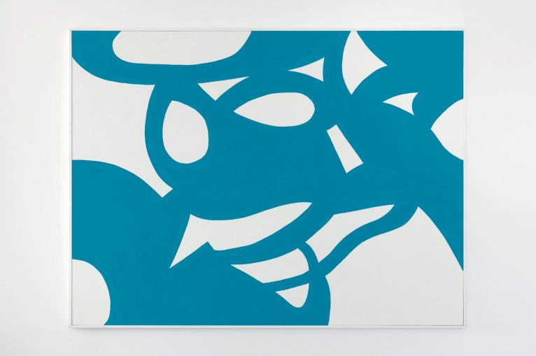 Carla Accardi, Onde blu, 2008. Vinyl paint on canvas 120×160 cm
