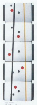 LUIGI VERONESI, Film n.6, 1941 - stampa fotografica, dal film originale, dipinta con anilina, 51x37 cm | Courtesy Galleria 10 A.M. Art, Milano