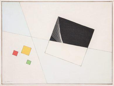 LUIGI VERONESI, Composizione, 1950 - olio su tela, 29,5x39,5 cm | Courtesy Galleria 10 A.M. Art, Milano