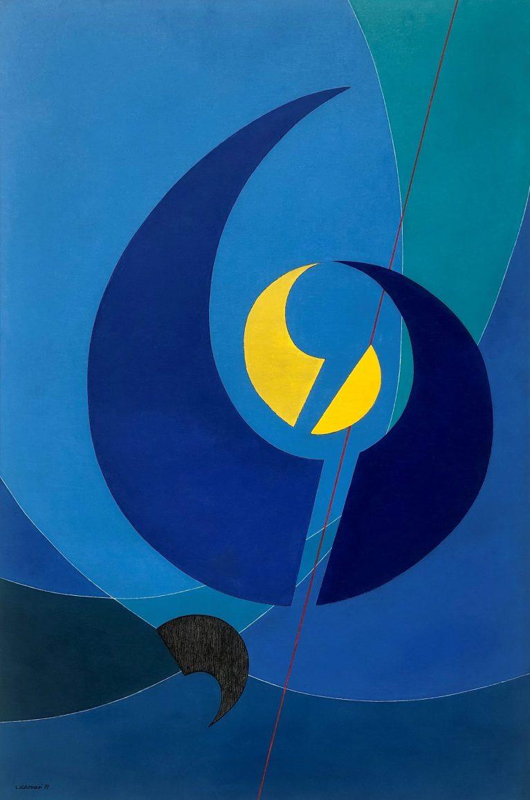 LUIGI VERONESI, Composizione C71, 1971 - olio su tela, 150x100 cm | Courtesy Galleria 10 A.M. Art, Milano