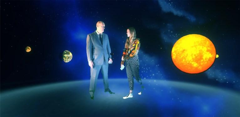 Tony Oursler: Spacemen R my Friended, 2016 - still da video | courtesy Dep Art Gallery, Milano