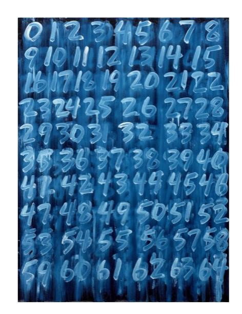 Noire Gallery: Mel Bochner, Counting A1 (ZIG) Artissima Torino 2019
