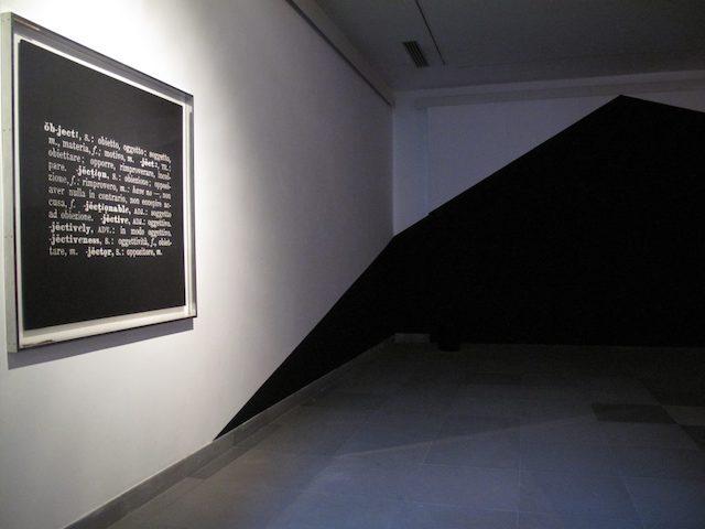 """Michelangelo Consani: """"Ancora ancora la nave in porto. Amoco Milford Haven files"""" , 2011 -  CAMeC Piano zero,  La Spezia."""