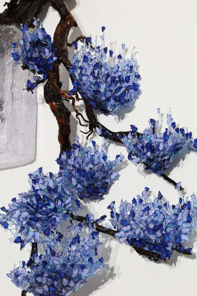 ArtVerona 2020 - Digital White: Annalù: Blue Han-Kengai (Blu a parete), 2020 | Punto sull'Arte