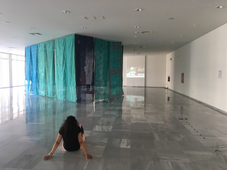 Footprint/Apotipoma, Athens, Greece, 2018- installation view | courtesy Monica Jahan Bose.