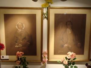Pair of pastel portraits