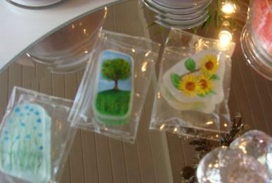 Miniature art on sea glass