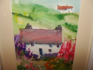 Close up of Cottage watercolour