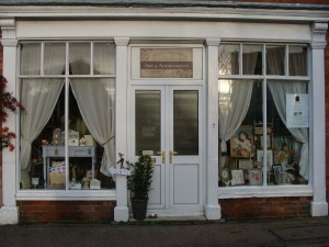 All white shop front