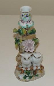 Rudolfstadt Owl Figural Candlestick 22.5 cm