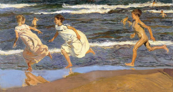Image result for Running along the beach by Sorolla