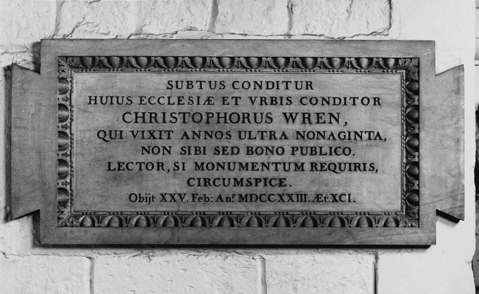 Bildergebnis für christopher wren s tomb inscription