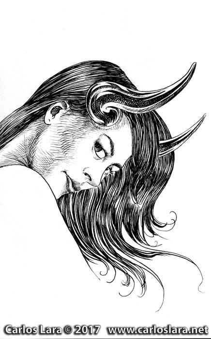 Horny- Tinta sobre papel