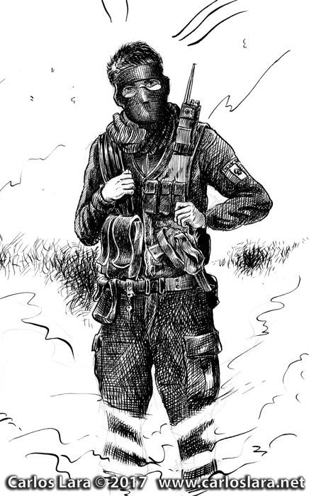Swat mexicano - Tinta sobre papel