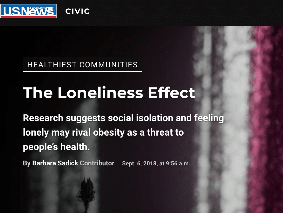 Loneliness Coverage in US News and World Reports